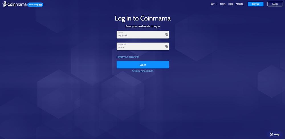 coinmama bitcoin payment-create account